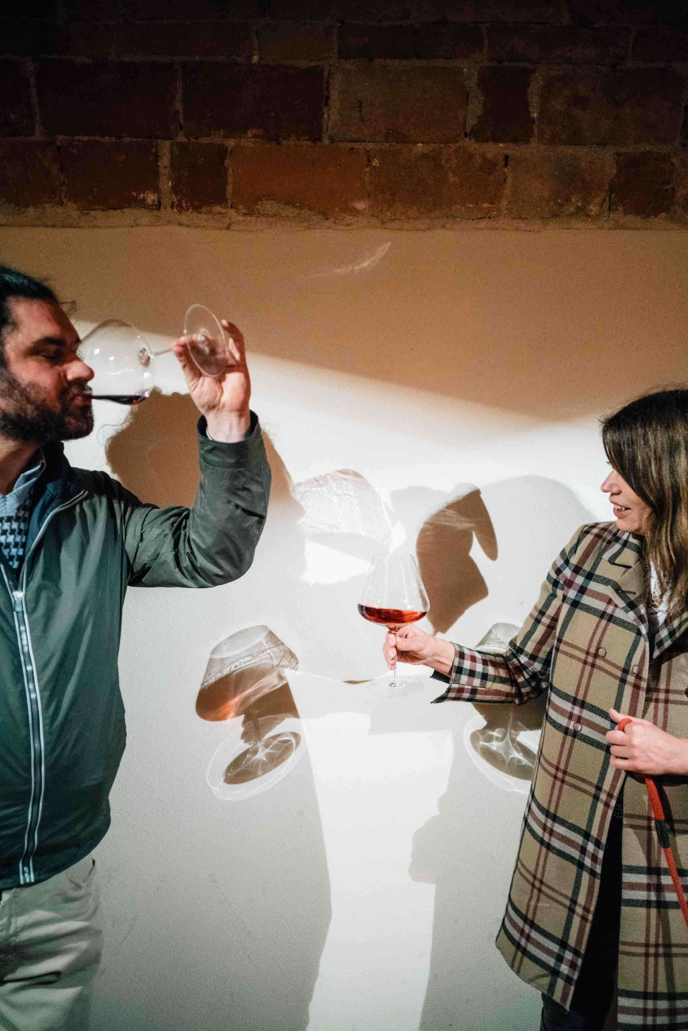 Go wine tasting with Barolo wine in Piedmont. Winemaker Mario Fontana gives us a barrel tasting of his traditional and natural wine in Piedmont Italy