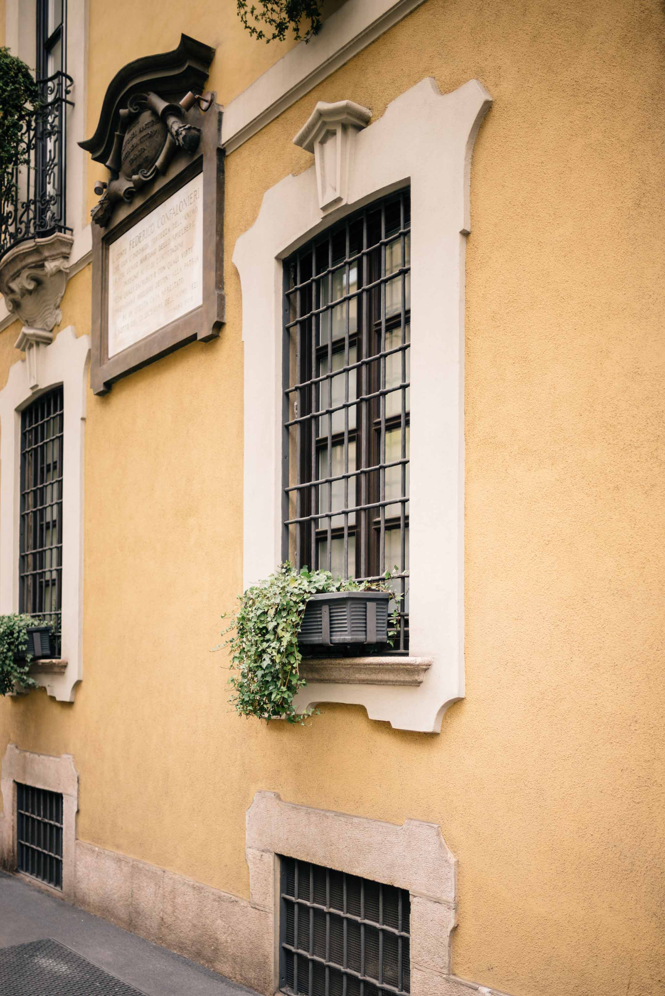 Window boxes with trailing vines - Early morning strolls around Milan, Italy - see a snapshot of Milan for your next vacation, The Taste Edit