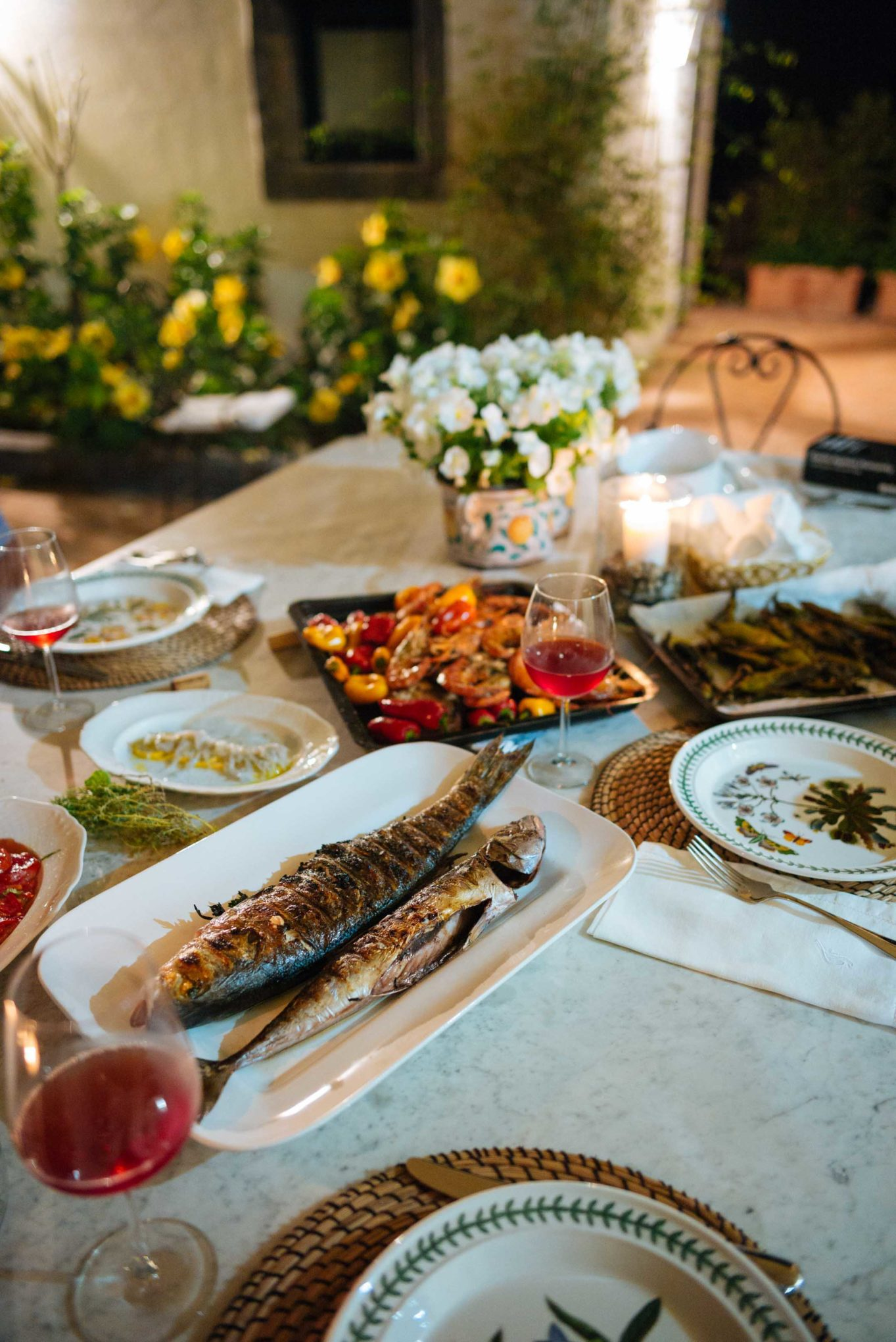 The Taste SF grills dinner at our villa in Sicily Italy.
