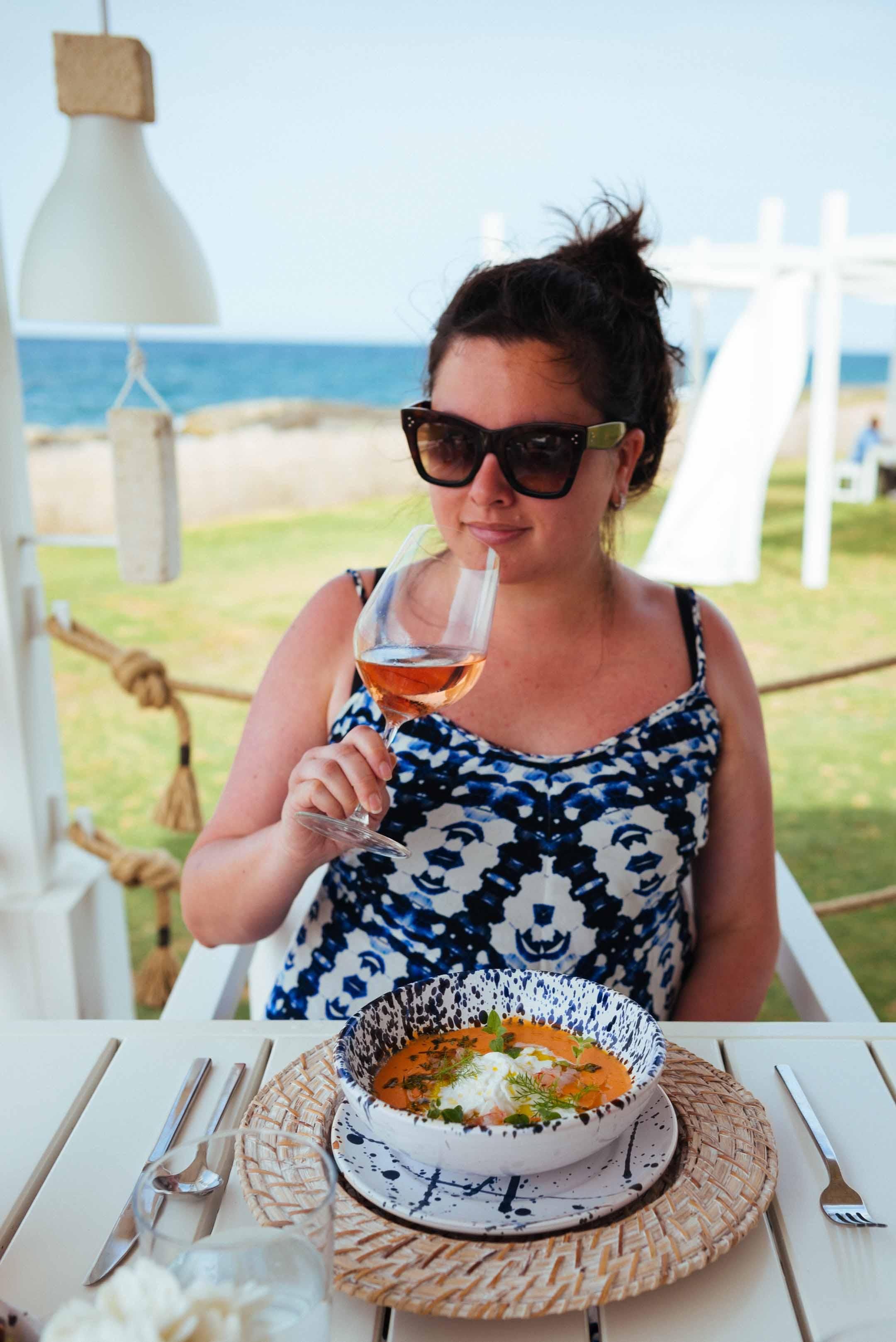 Sarah Stanfield - Borgo Egnazia fish restaurant in Puglia