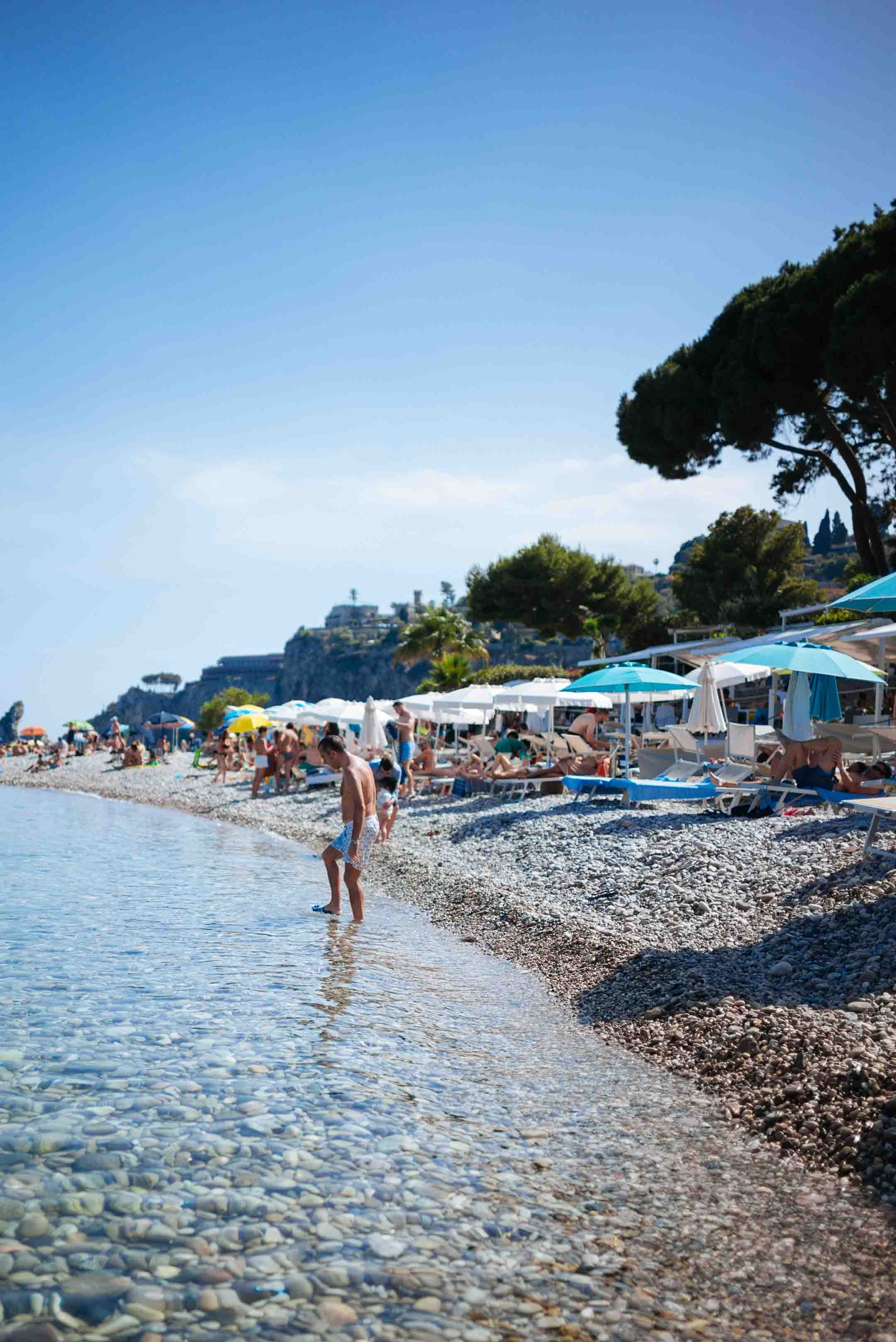 Spend the day at the beach in Sicily at Isola Bella like The Taste Edit