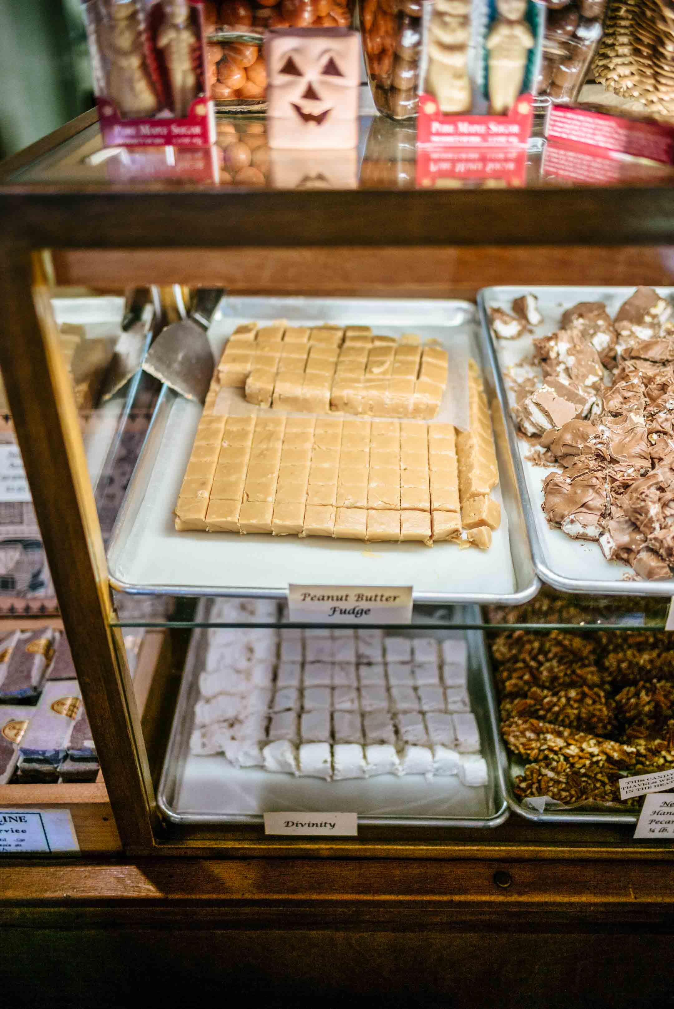 Get fudge at the historic candy store in the historic Columbia State Historic Park