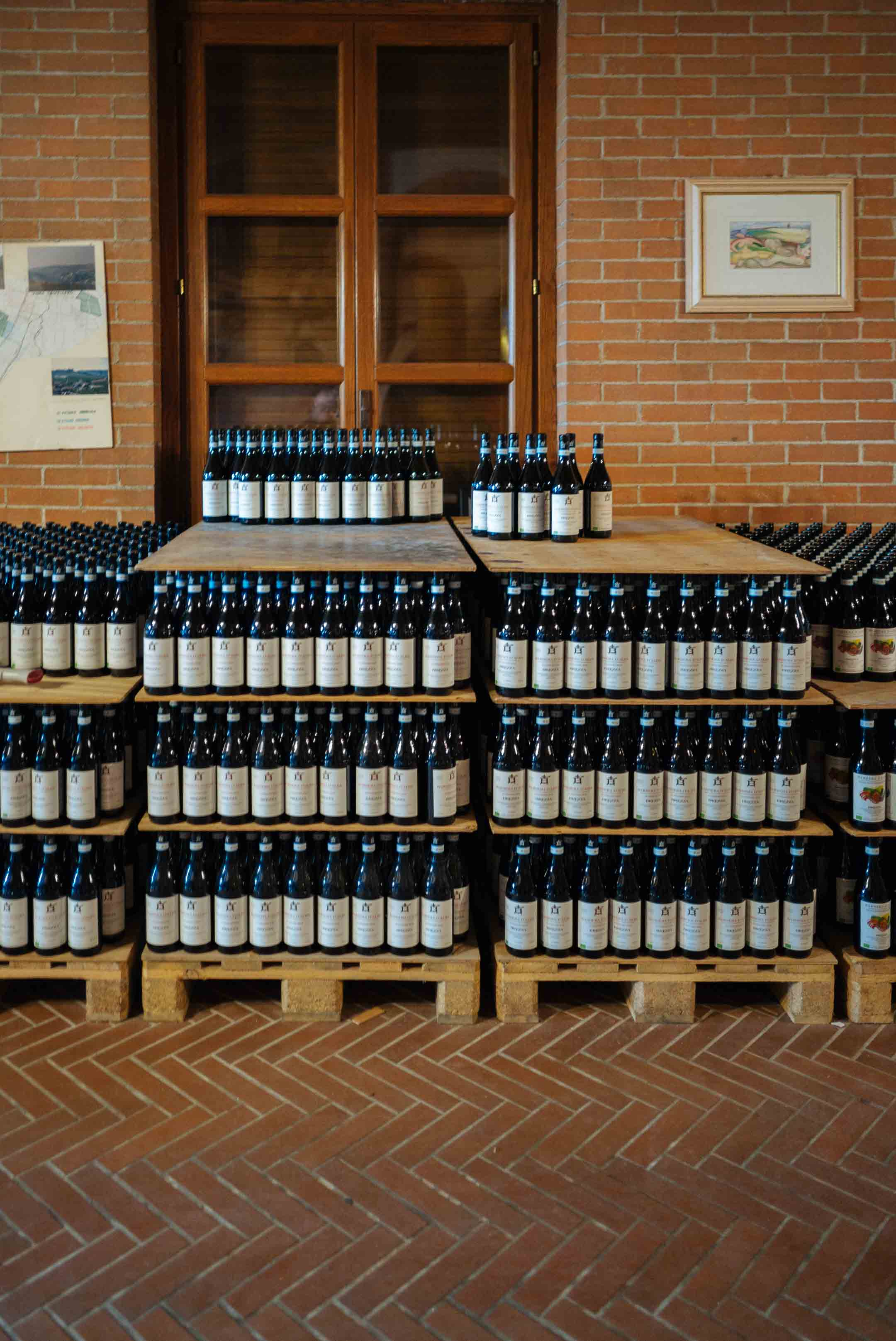 Brezza winery is located just at the edge of town of Barolo