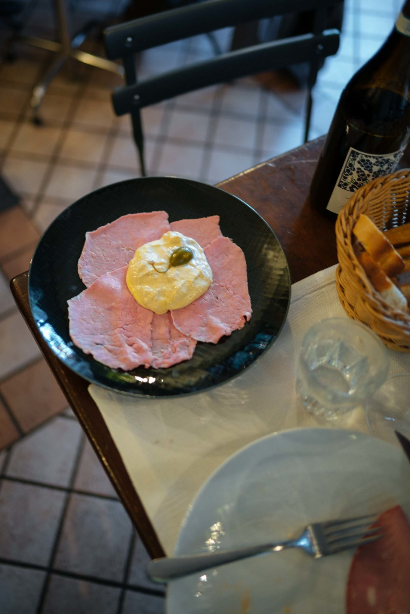 Go to Vinoteca Centro Storico in Serralunga for good food and amazing local wines and champagnes - try the Vitello tonnato