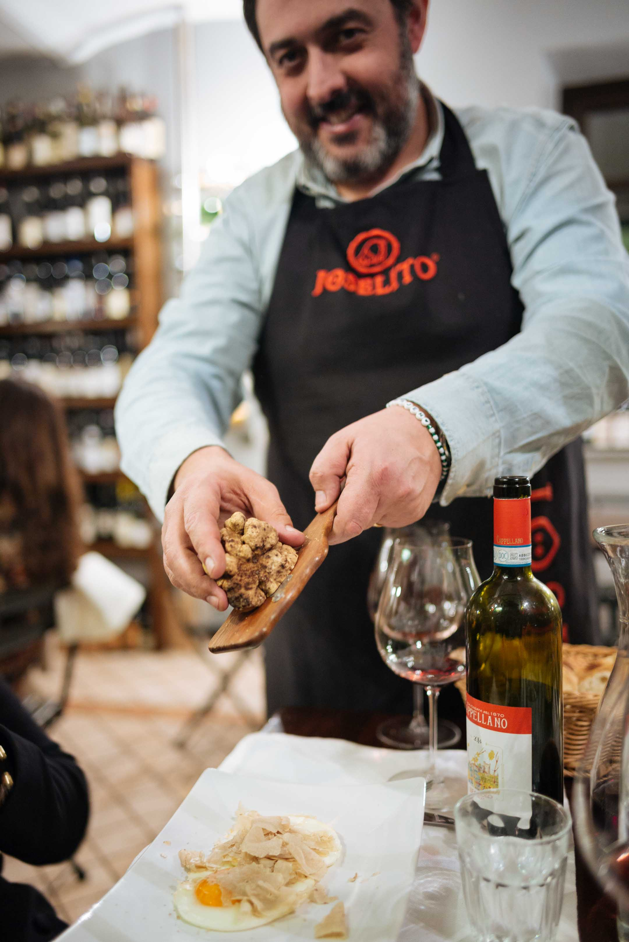 Go to Vinoteca Centro Storico in Serralunga for good food and amazing local wines and champagnes - ask Alessio tops pasta and eggs with fresh shaved truffles