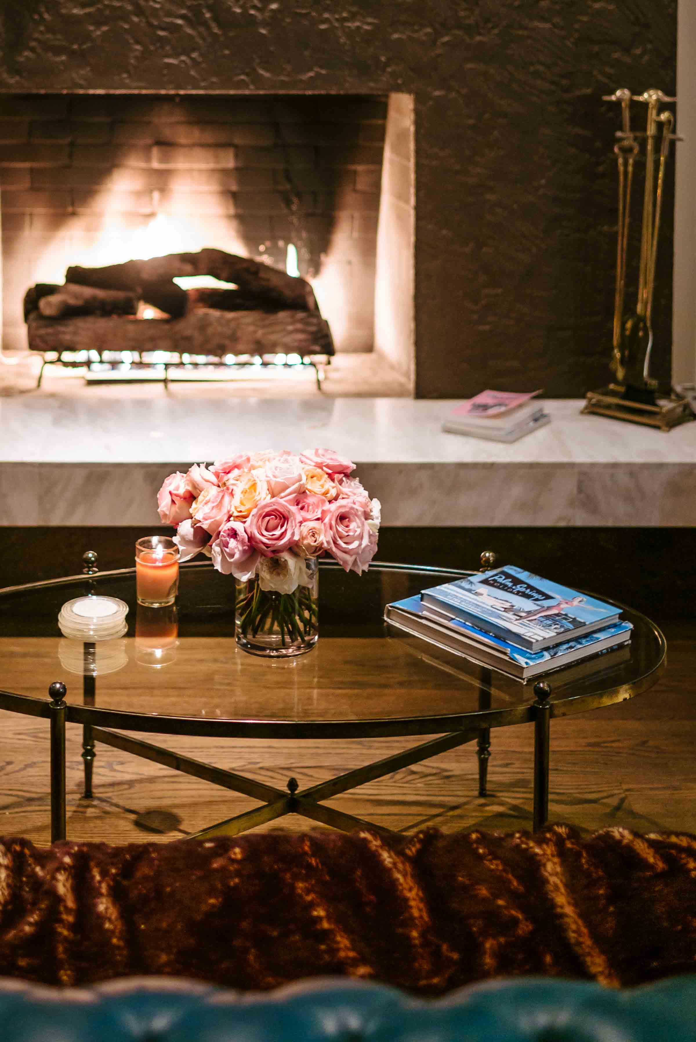 The Taste SF takes you behind the Instagram photo sensation That Pink Door in Palm Springs. Explore the interior decor in this mid-century Palm Springs house with working fireplaces