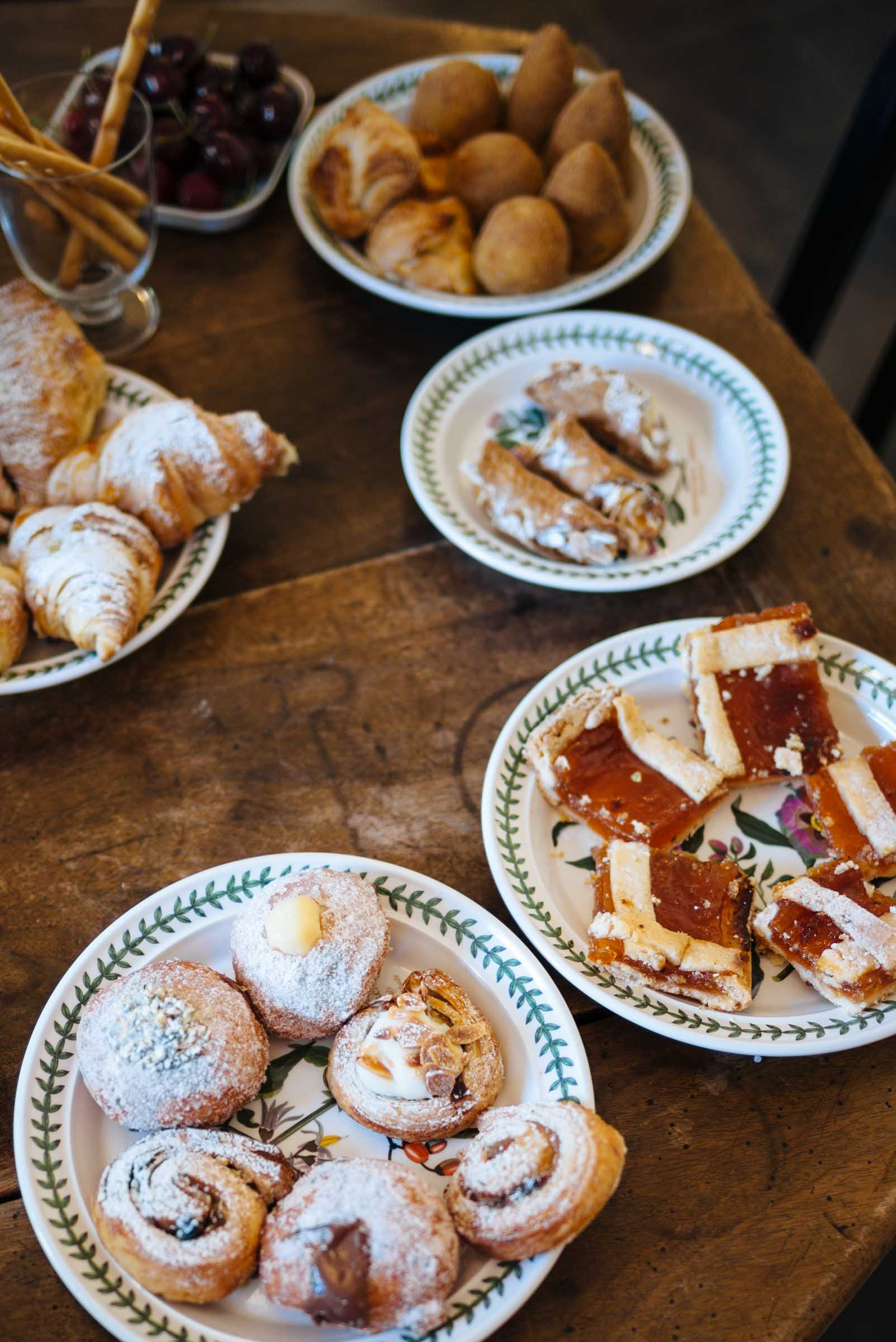 On your romantic getaway to Italy, have Sicilian breakfast of pastries and arancini