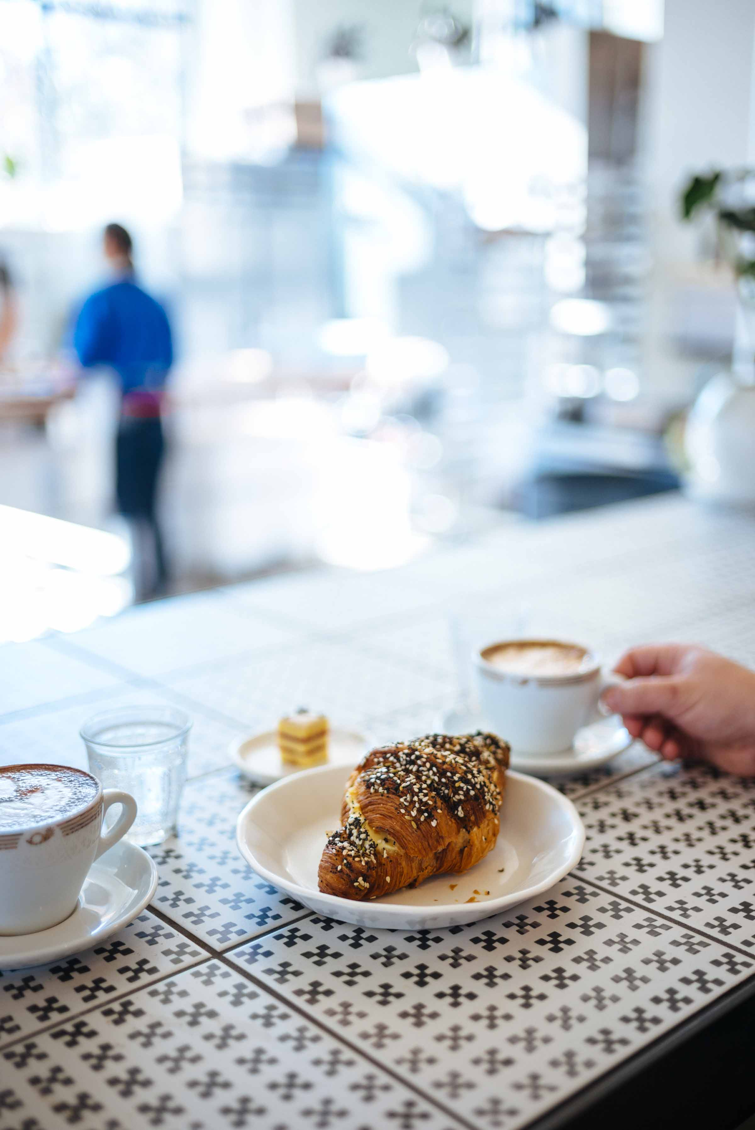 Head to Ibis bakery Kansas City for refined pastries and coffee