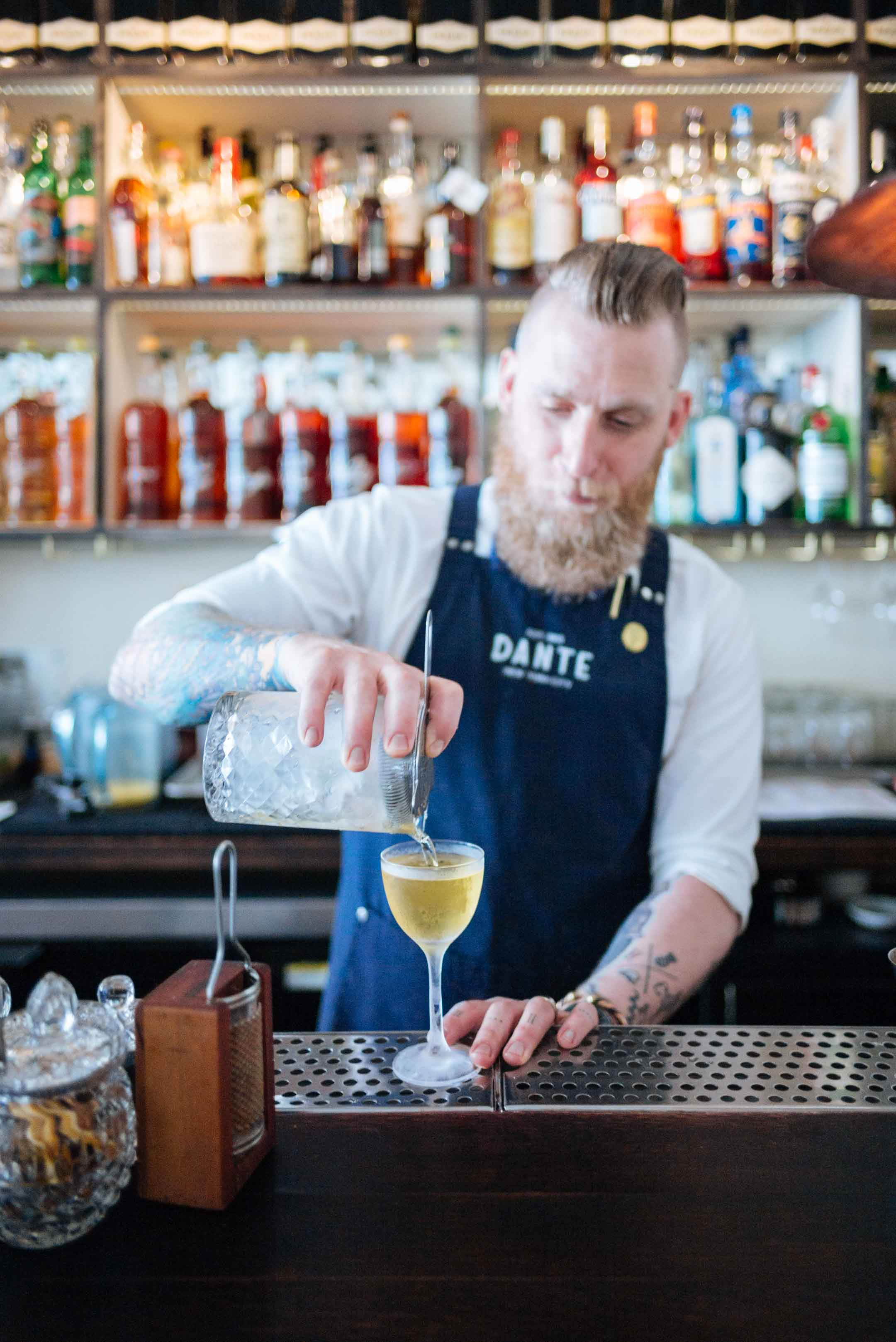 Make a Bianco Negroni from Dante New York City at home like a skilled bartender | thetasteedit.com #cocktail #negroni #nyc #bar