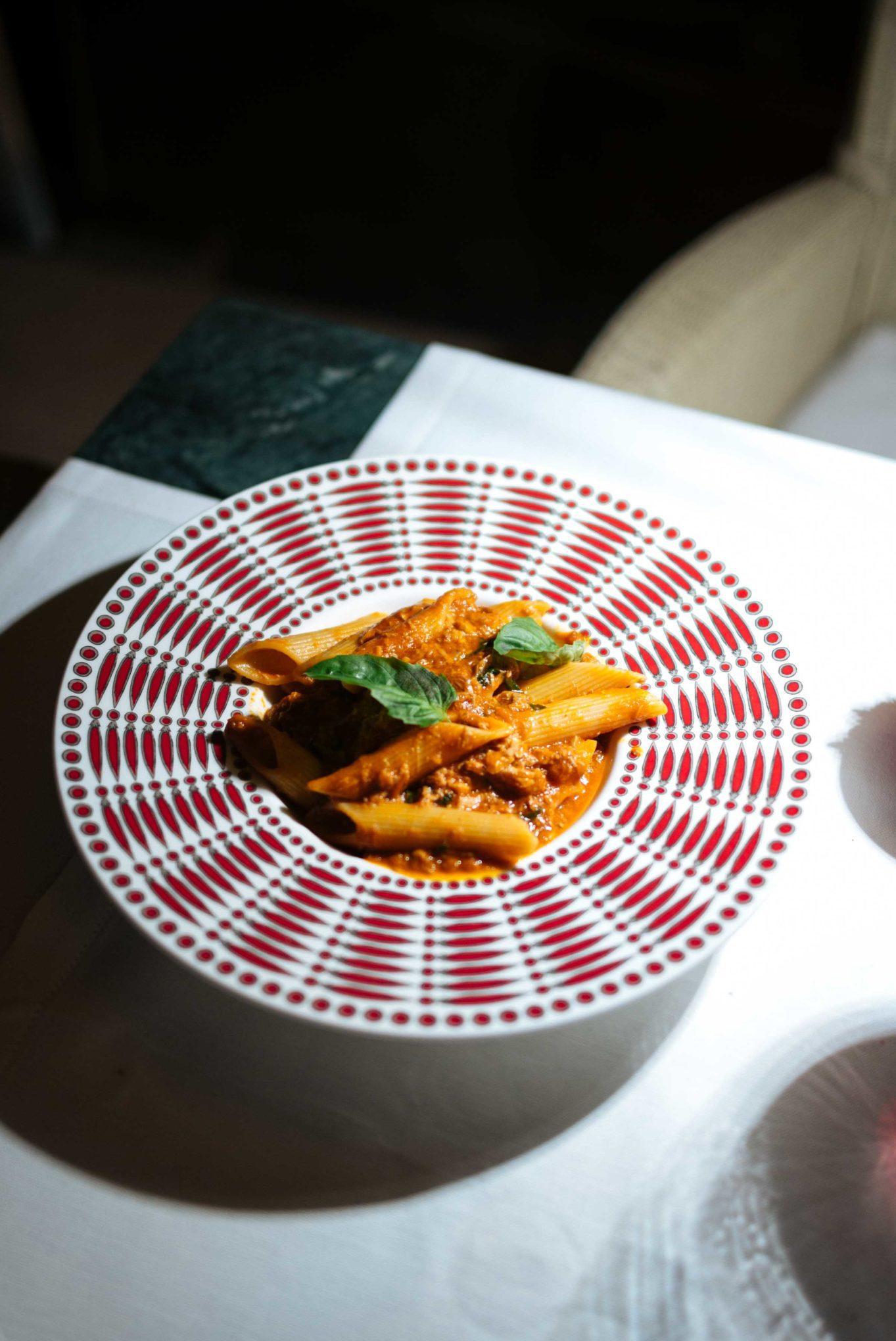 The Mezzatorre Hotel in Ischia's La Torre restaurant serving traditional Neapolitan ragu pasta. Ischia, Italy - Photo by The Taste SF, Sarah Stanfield