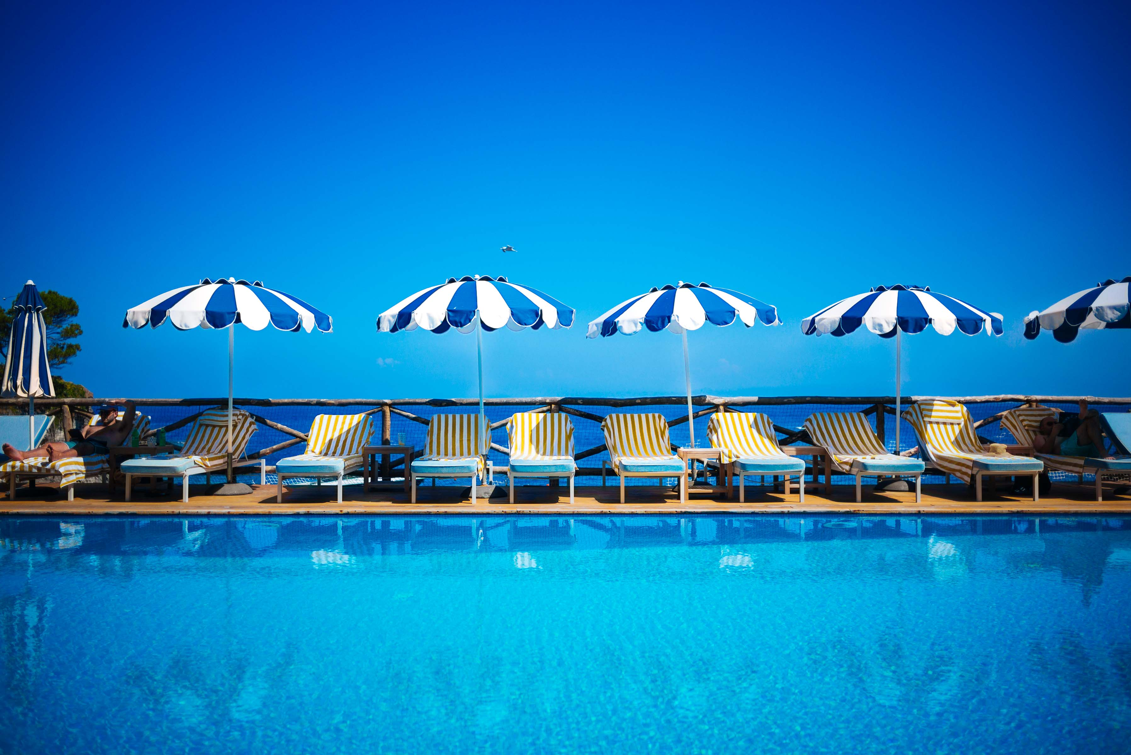 Relax on your Italian vacation by the pool in Ischia, the sister island to Capri, just off the coast of Naples and the Amalfi Coast. Fly directly from New York/Newark to Naples and hop a ferry to stay at the Mezzatorre Hotel Ischia.