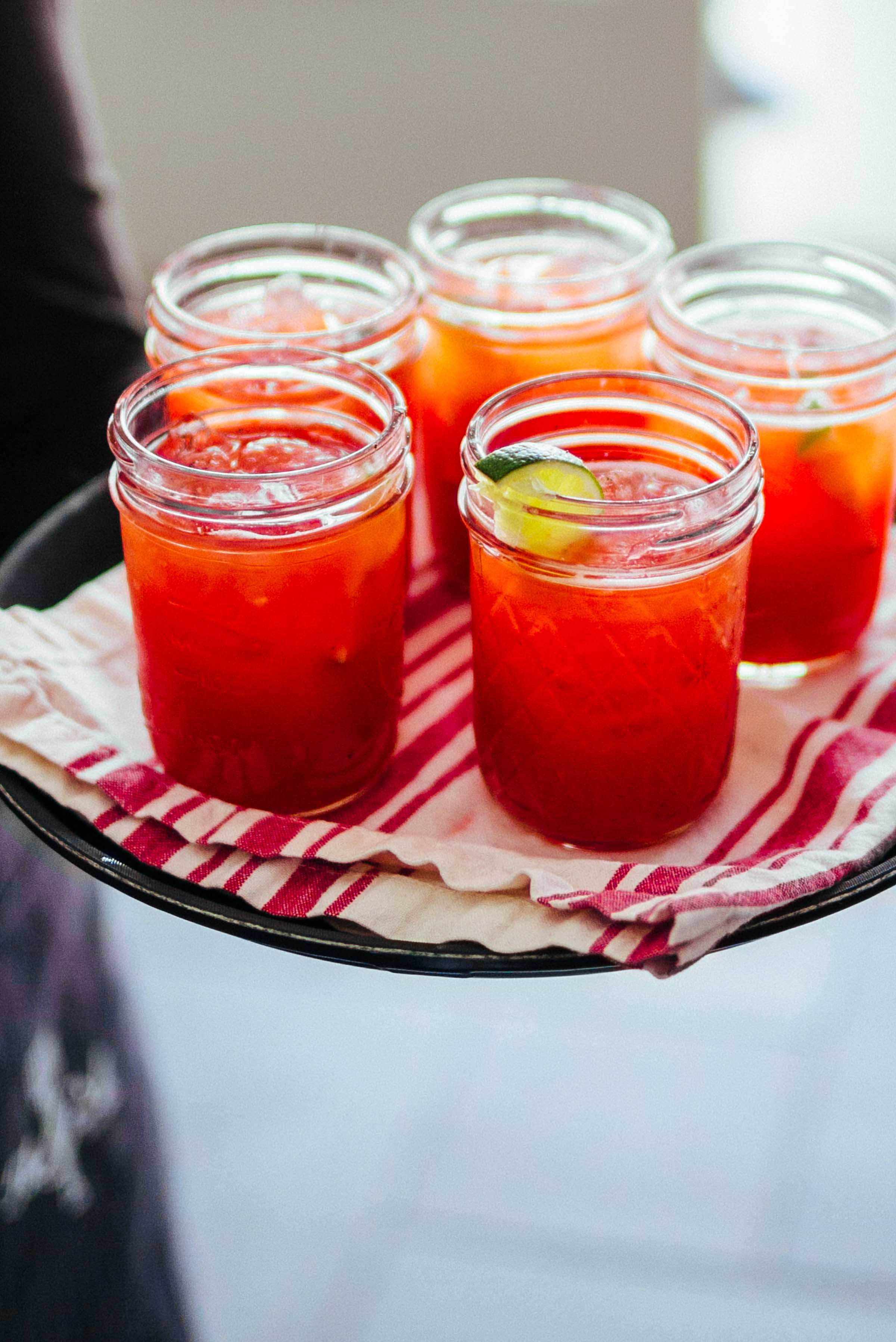 Make this fresh strawberry and tequila cocktail recipe for your brunch or summer party