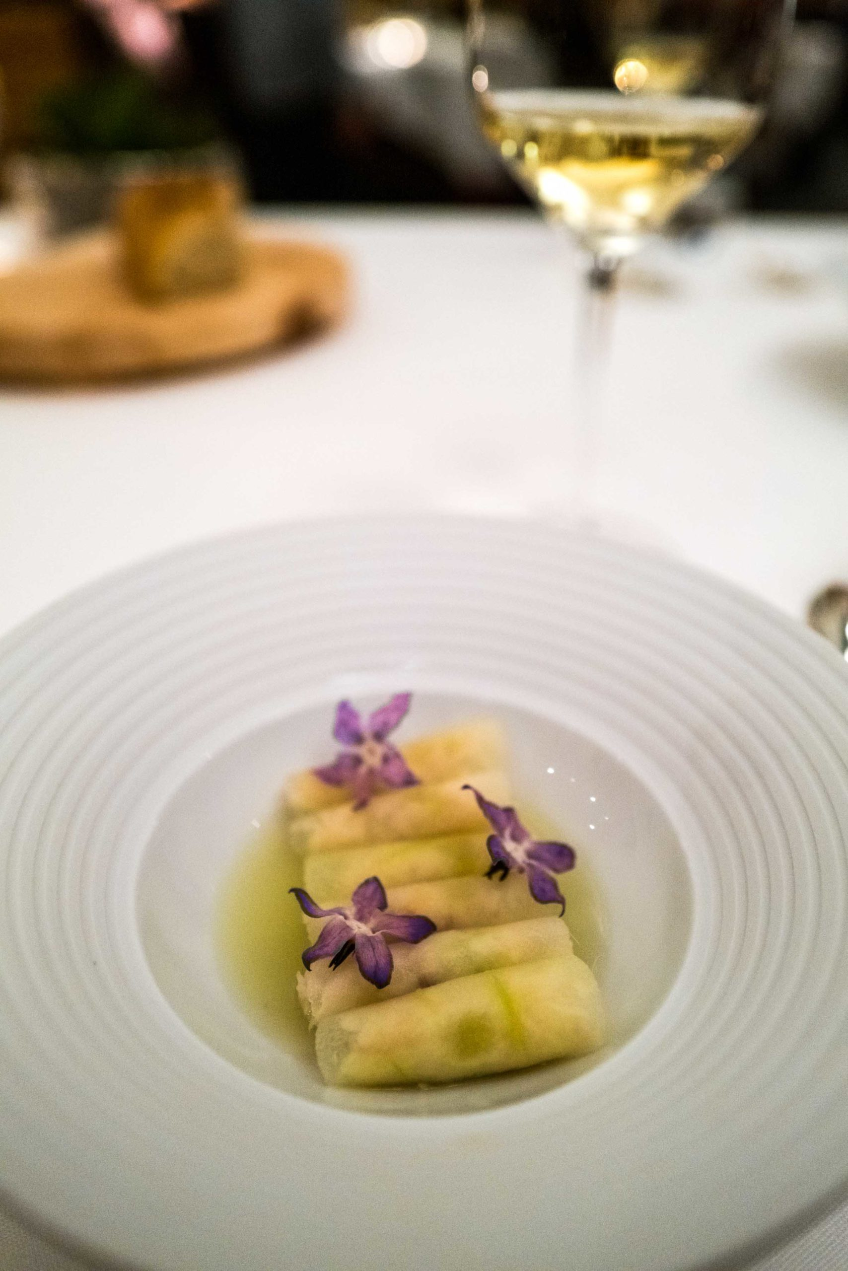 Crab and Apple at K by Mauro Colagreco restaurant at Kulm hotel St Moritz - The Taste Edit