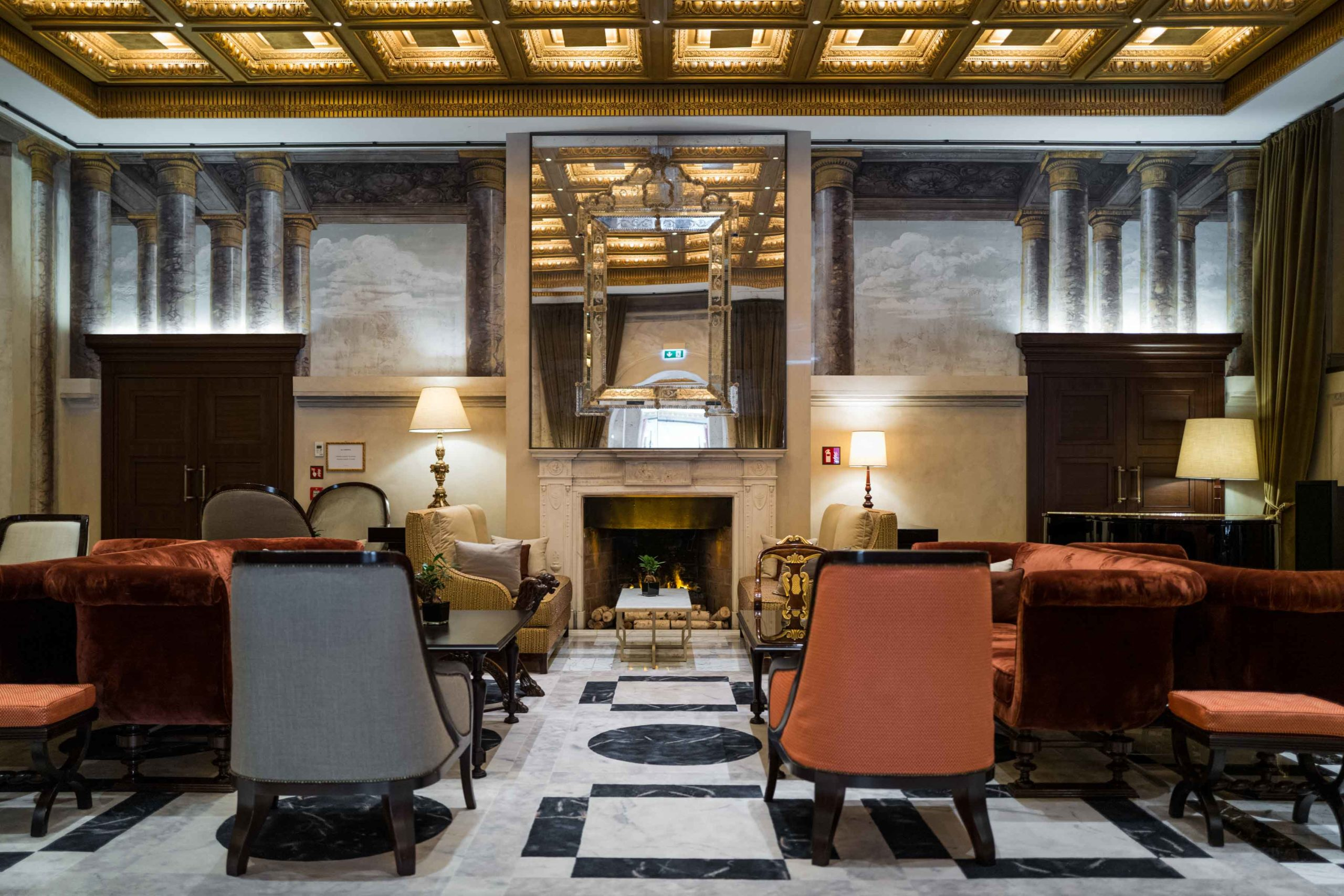 The lobby at the Hotel Eden Rome, The Taste Edit #hotel #rome #italy