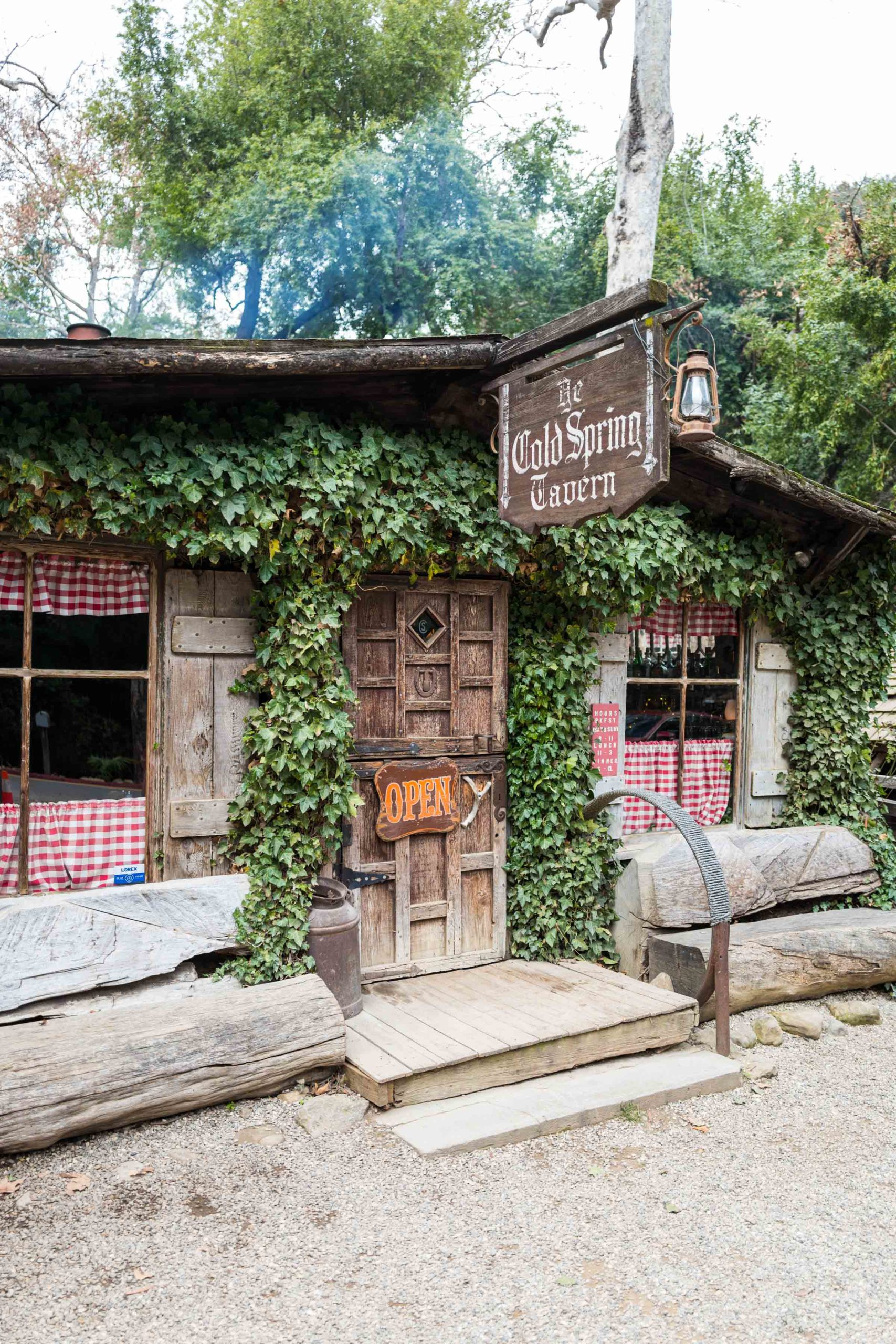A local must restaurant when you head to Santa Barbara for the weekend - Cold Springs Tavern grilling the best tri tip steak sandwiches #santabarbara #restaurant #travel